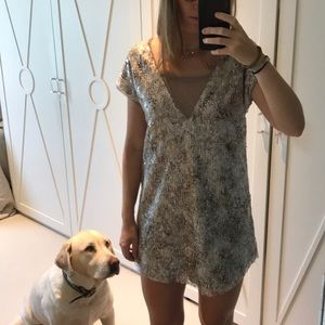 Free people loose sequin dress
